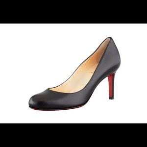 Christian Louboutin Simple Leather Red Sole Pumps